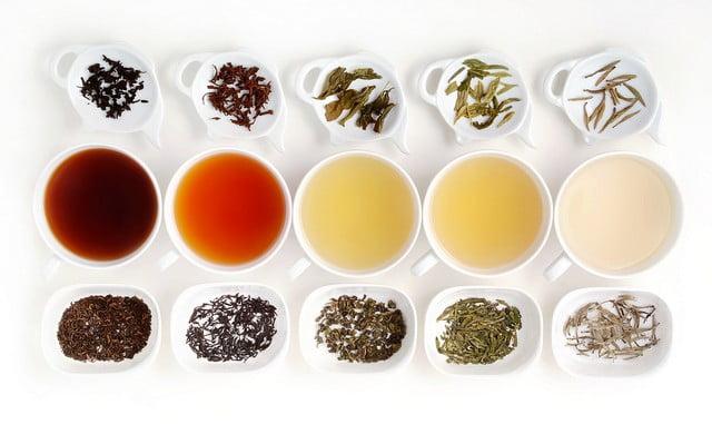 Différents thés selon fermentation