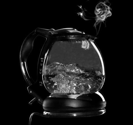Théière eau bouillante