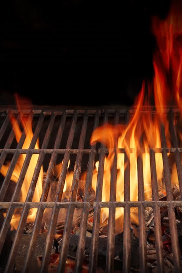 Flammes barbecue