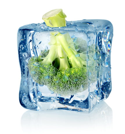 Brocoli dans la glace