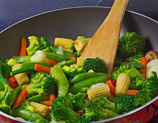 Brocoli et légumes verts cuits