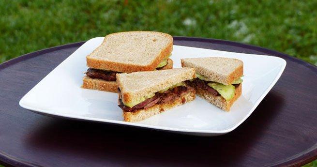 Sandwich au foie de volaille bio