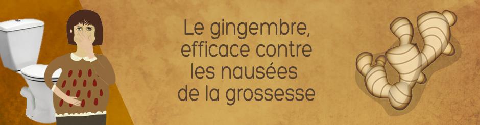 Le gingembre efficace contre les nausées de la grossesse