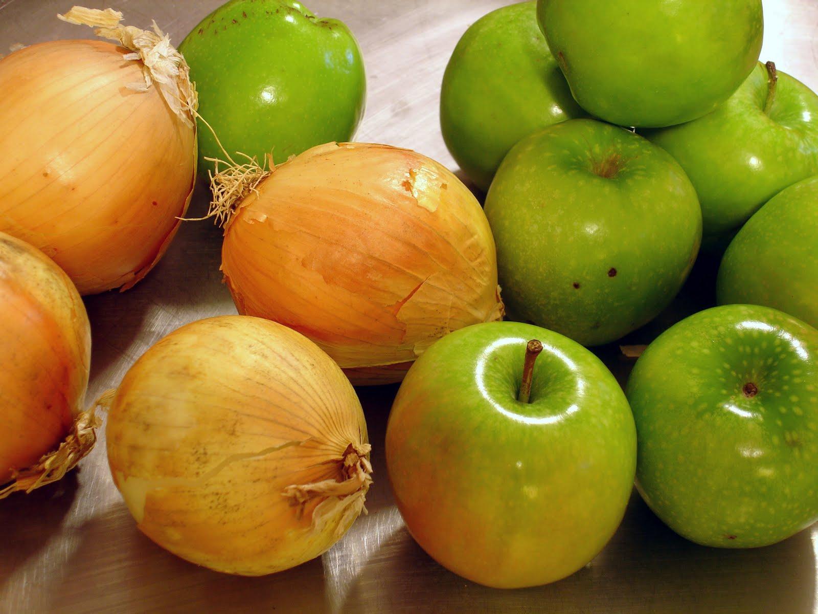 Pommes et oignons