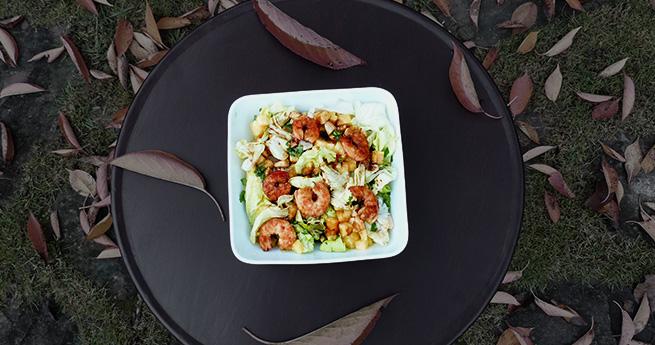 Salade de crevettes à l'ananas