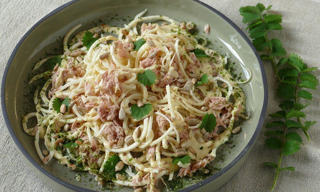 Spaghettis crus de panais