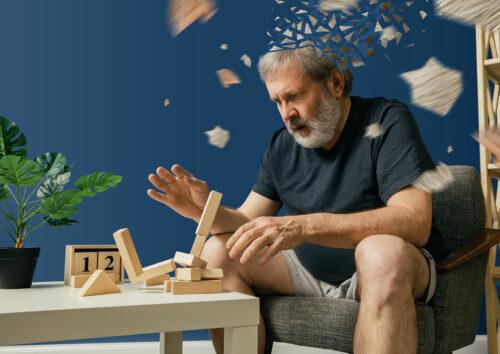 Vieil homme et Alzheimer