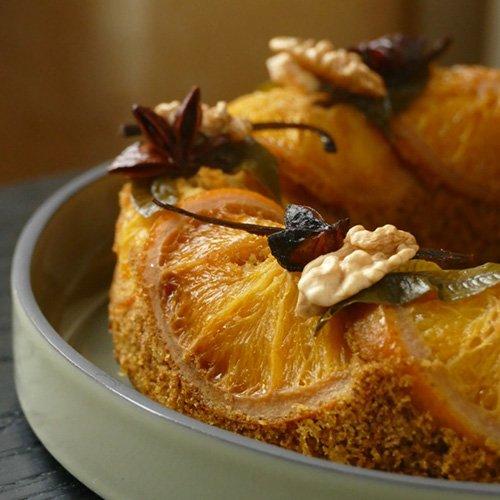 Gâteau aux mandarines confites