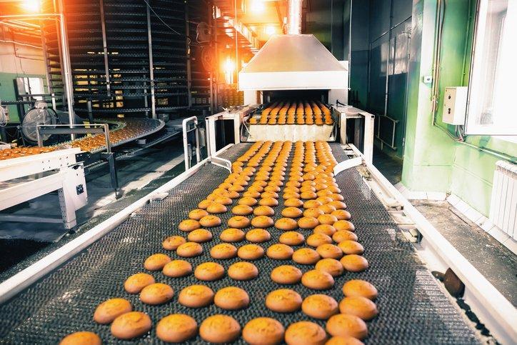 Production de biscuits sur ligne